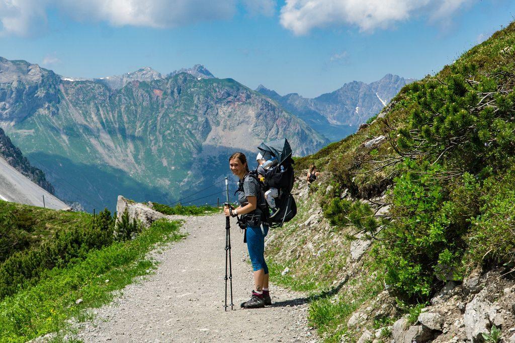 Wandern mit Kraxe