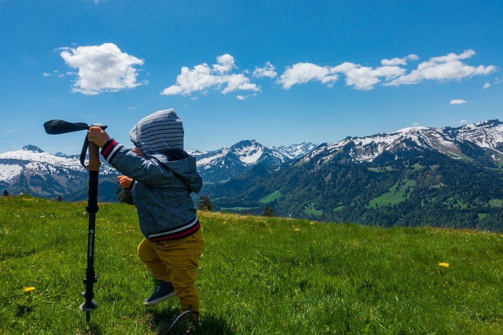 Bergwanderung zum Gipfel Renkknie