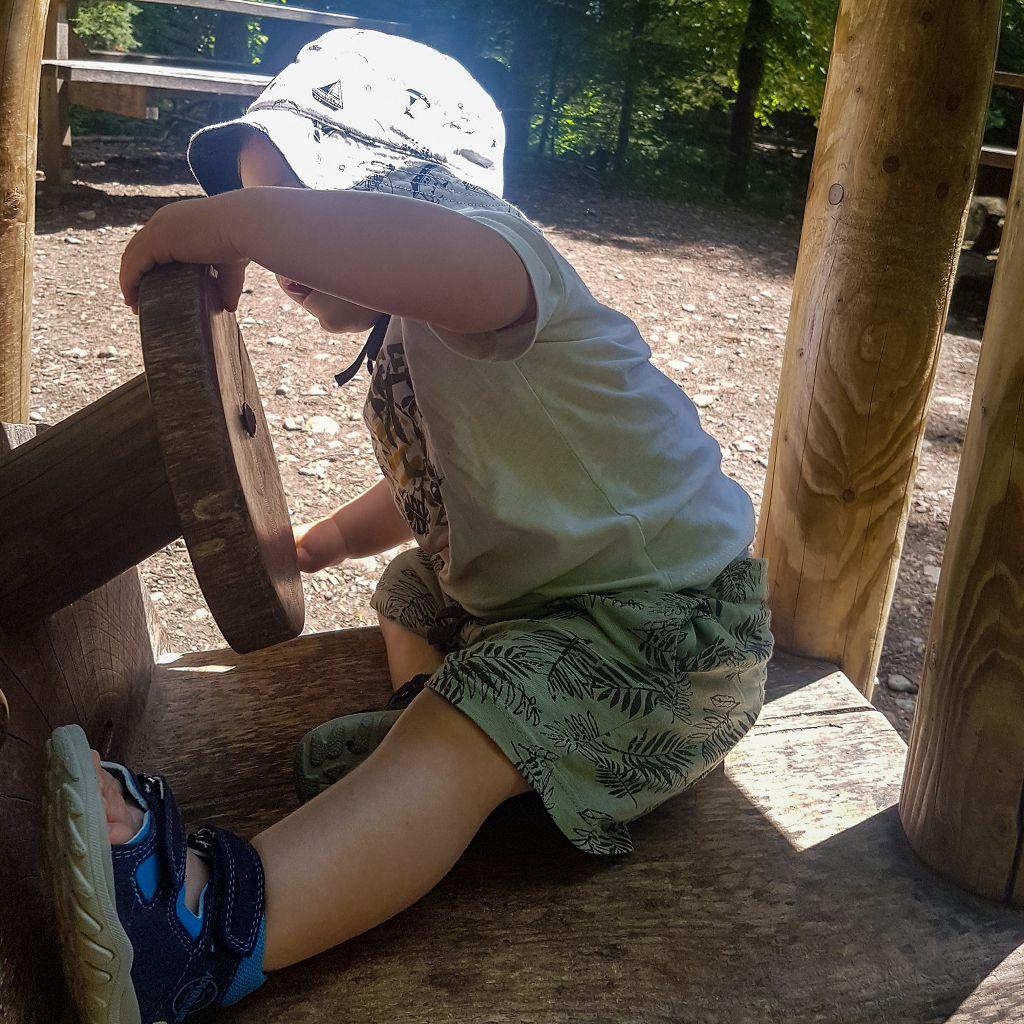 Wandern mit Kind im Eistobel