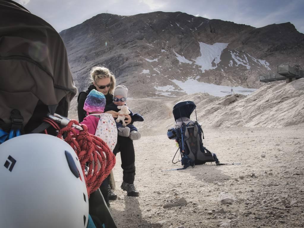 Zugspitze mit Baby