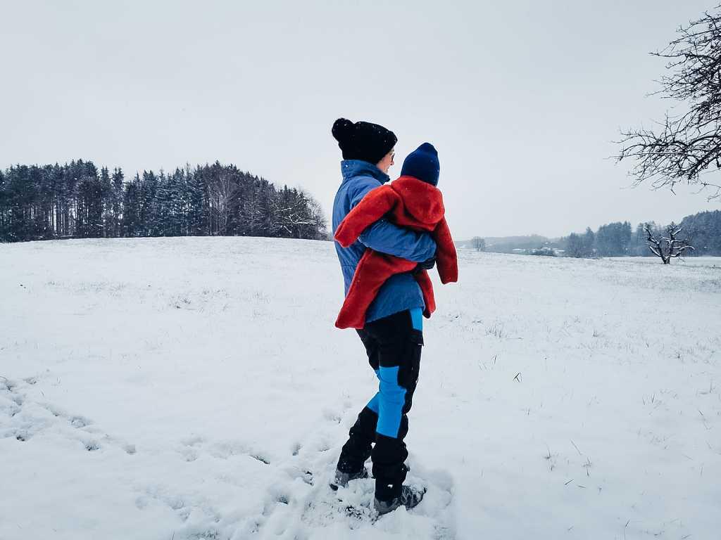 Wandern mit Baby im Winter