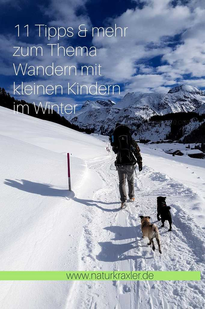 Winterwanderung mit Kind und Hund