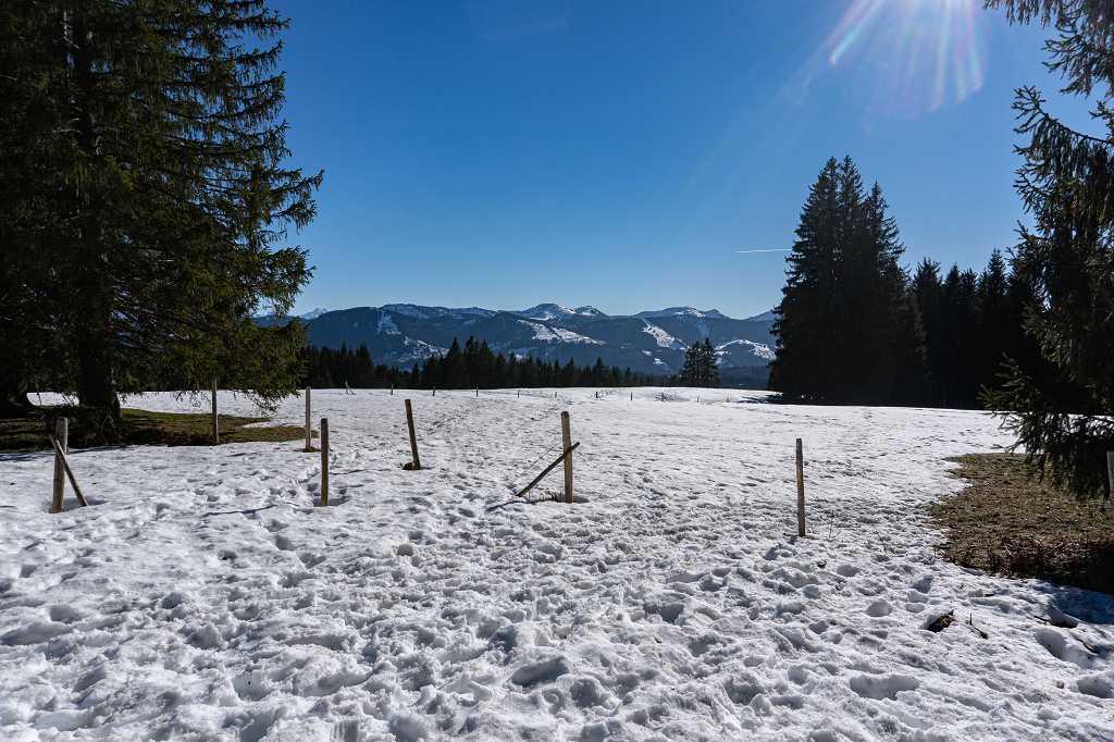 Schneewanderung im Allgäu